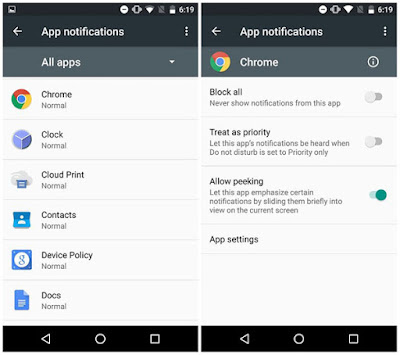 Android Marshmallow Notification Peeking qanot