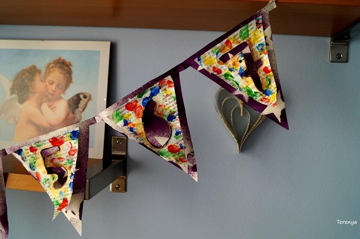 manualidad-facil-tecnicas-mixtas-banderines-papel