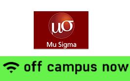 mu sigma off campus drive bangalore