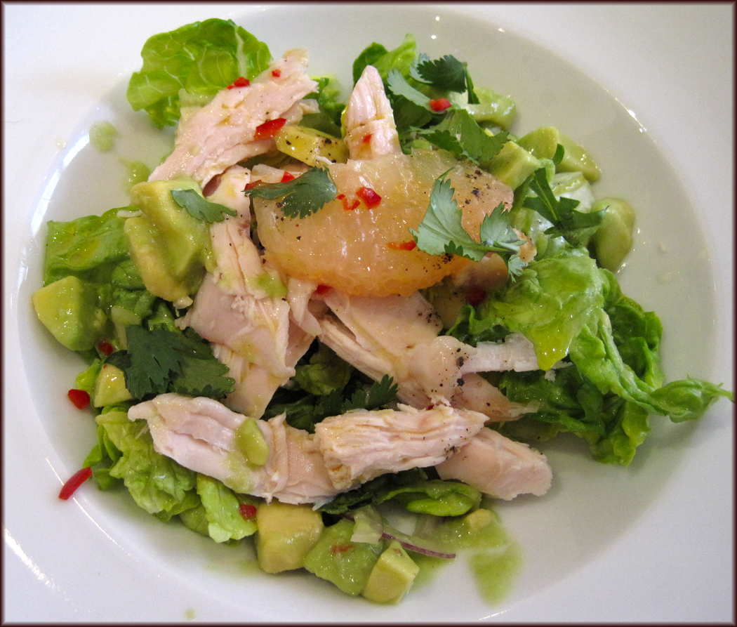 Smoked chicken, avocado and Florida grapefruit salad
