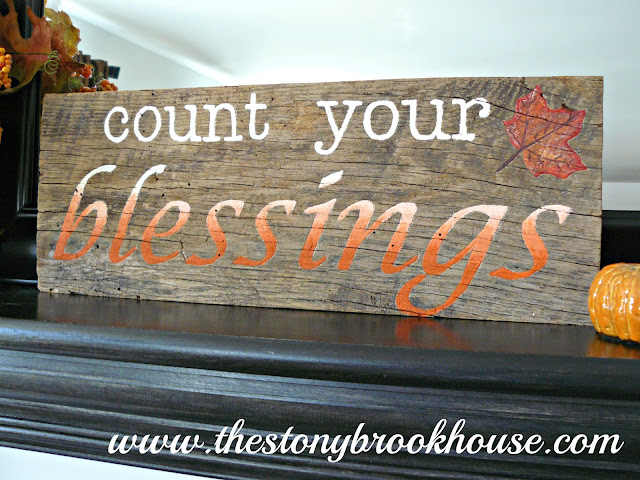 DIY Count Your Blessings Wood Sign