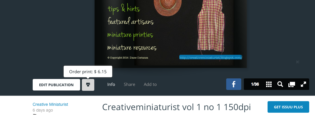 Creative Miniaturist: How to Download or Print from ISSUU