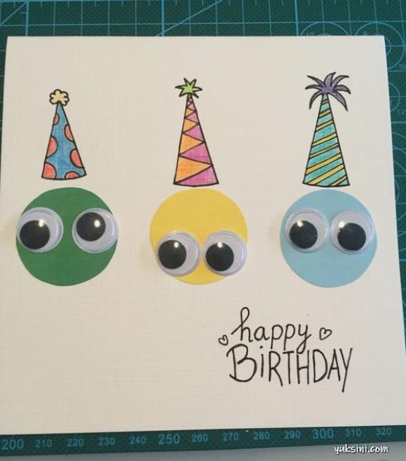 Kartu ucapan ulang tahun yang sangat simple menurut saya, ntah kenapa menjadi salah satu kartu ucapan yang paling populer di pinterest dengan jumlah repin mencapai 14 K