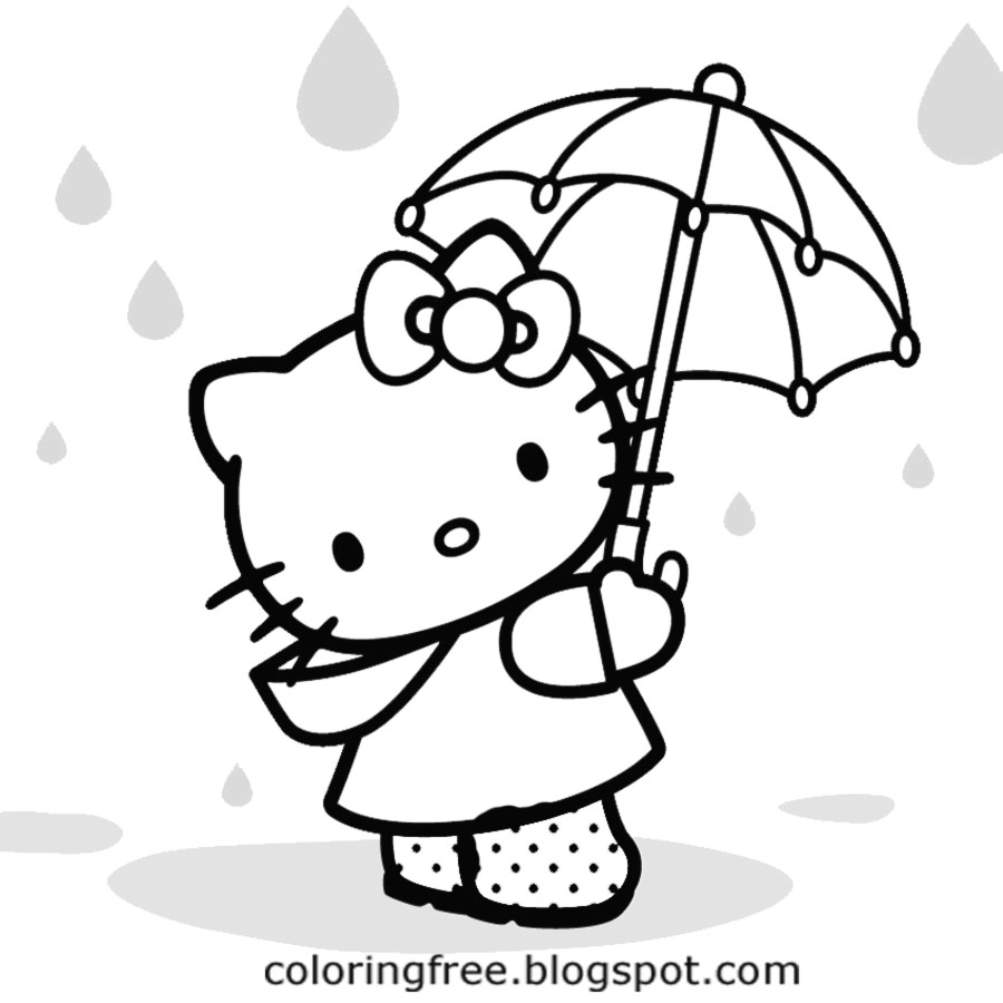 100 Hello Kitty Coloring Pages Printable
