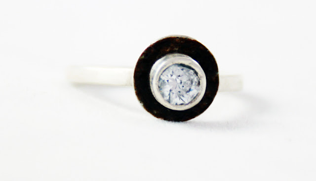 blue, ring, silver, sterling silver