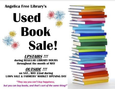 5-22 Angelica Free Library Used Book Sale