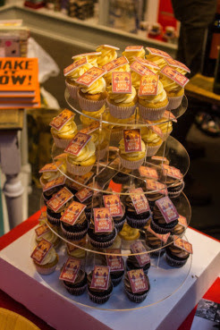 Cupcakes at the book launch for When the Mountains Roared