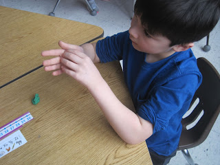 Student with modeling clay