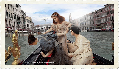 fotomontaggi opere famose-Alma Tadema-Venezia