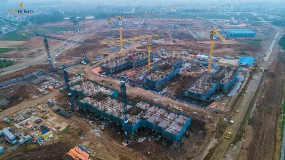 Tiến độ xây dựng toà H01 dự án Vinhomes Sportia