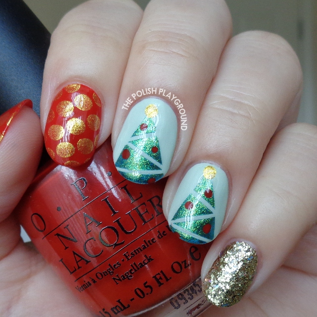 Festive Holiday Mix and Match Nail Art