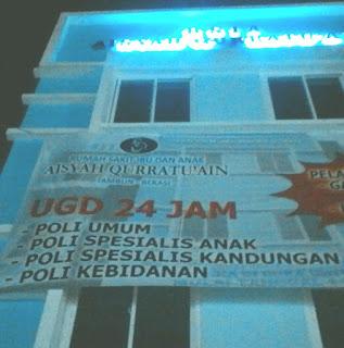 Rsia Aisyah Qurratu'ain - Bidan/Perawat/Radiografer/Ahli Gizi/Staff Keuangan/Staff Hrd/Cleaning Service