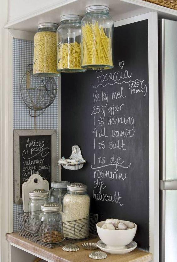 Petits paradis un mur ardoise dans la cuisine - Peinture ardoise cuisine ...