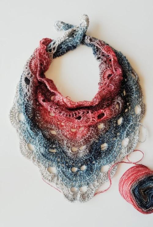 How to crochet Virus Scarf - Tutorial