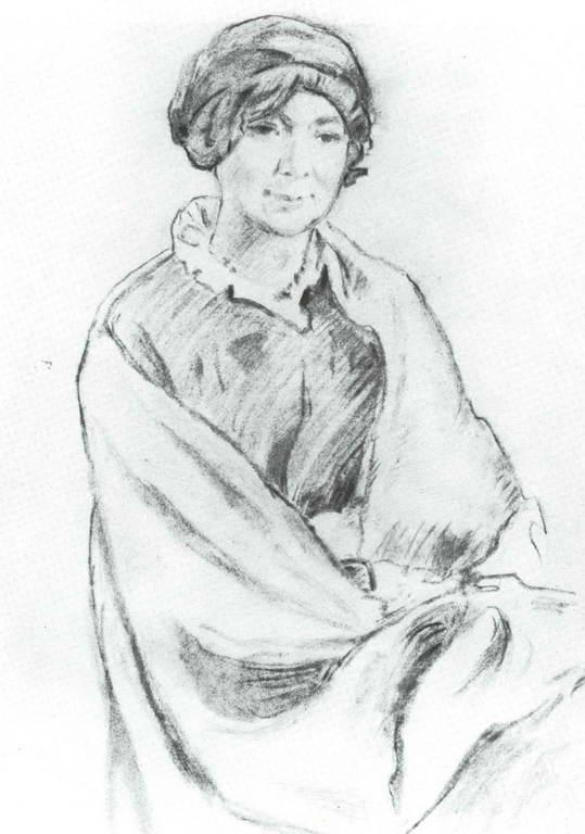 Добужинский Мстислав Валерианович - Портрет А.К.Бенуа, жены художника А.Н.Бенуа