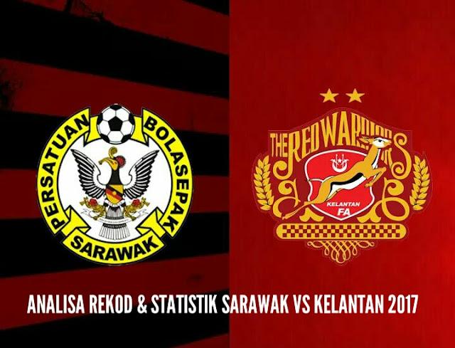 Analisa Rekod dan Statistik Sarawak vs Kelantan 2017