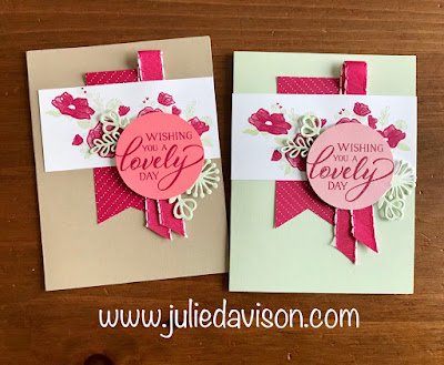 Stampin' Up! Forever Lovely Card: This or That? On Stage Make & Take Card Makeover ~ 2019 Occasion Catalog ~ www.juliedavison.com