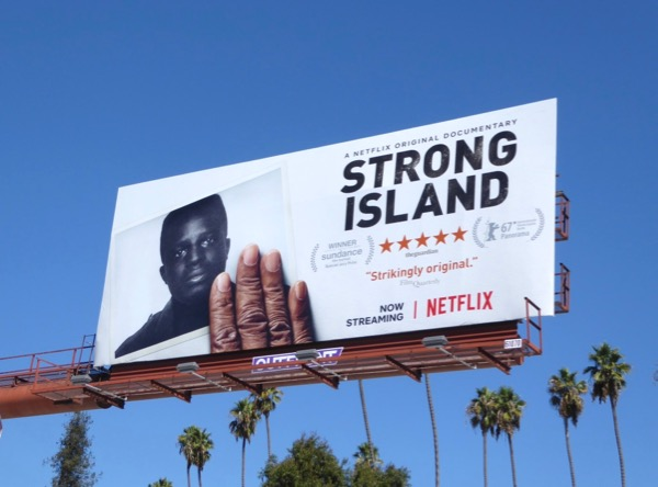 Strong Island documentary billboard