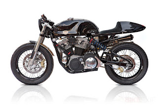 american 1200 sportster cafe racer by deus side left