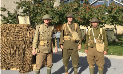 PMM staff and volunteers as WWI doughboys