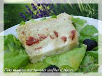 Cake magique aux tomates confites et chèvre