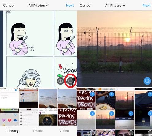 fitur upload foto banyak instagram