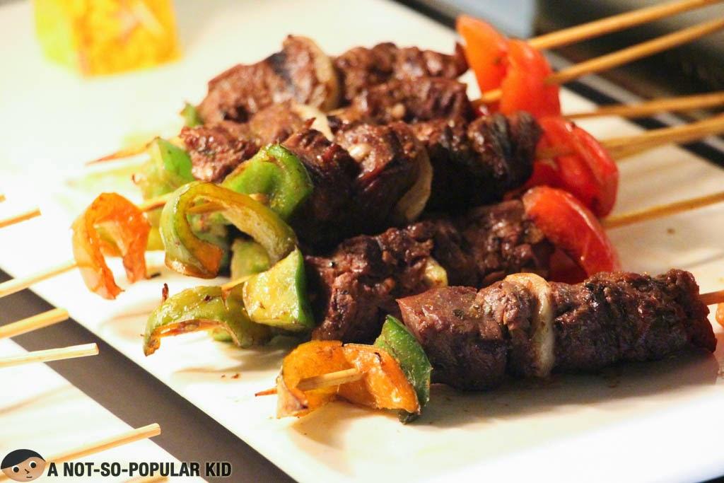 The visually appealing Beef Kebab of Vikings