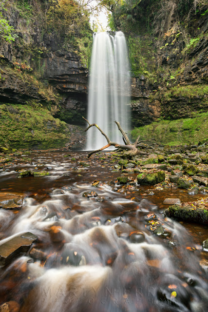 Henrhyd Falls in the Brecon Beacon South Wales by Martyn Ferry Photography