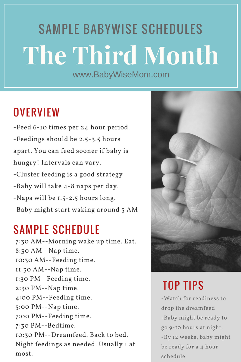 Sample Babywise Schedules: The Third Month