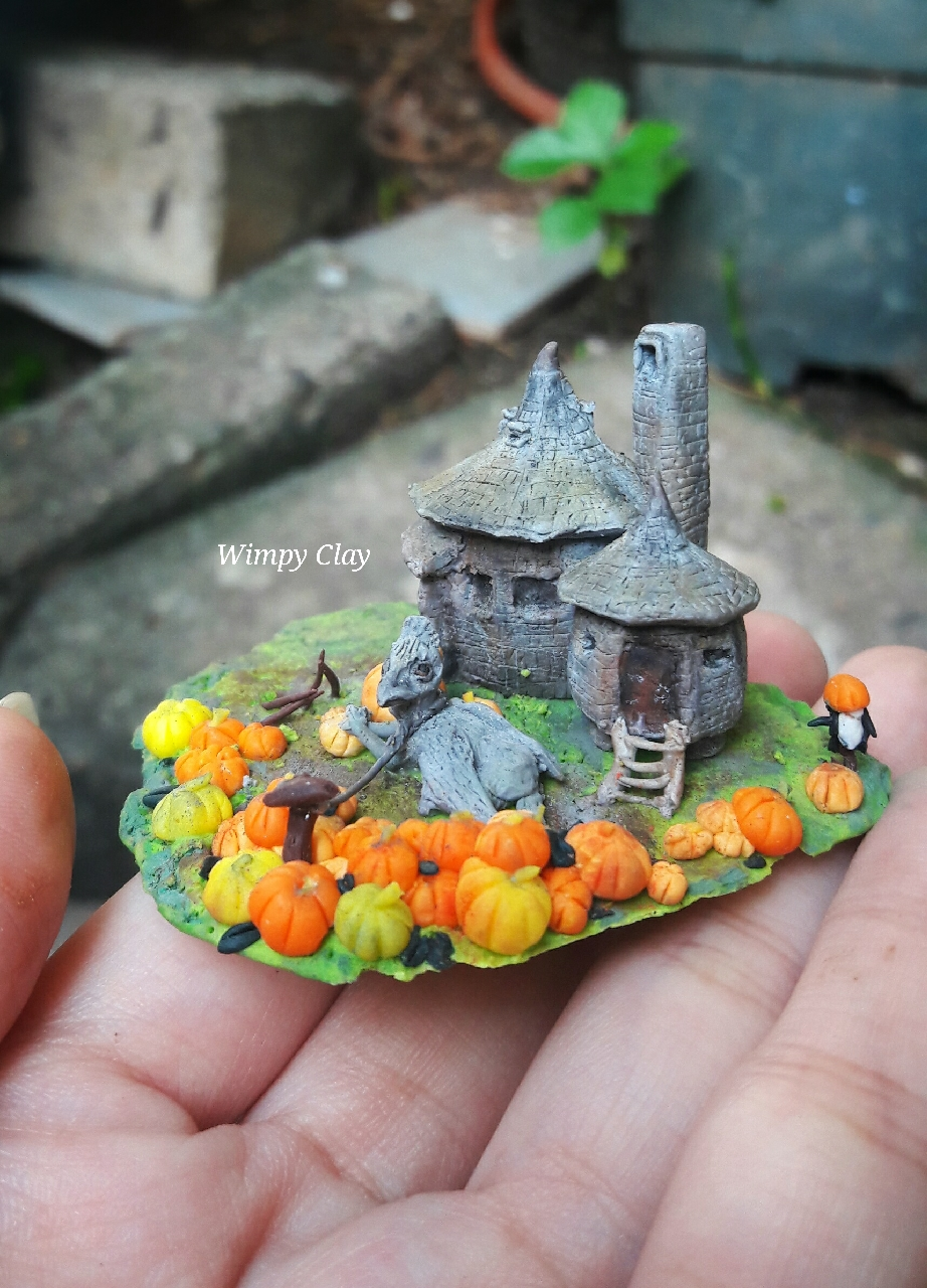 Wimpy Clay Miniature Polymer Clay The Hagrid S Hut And