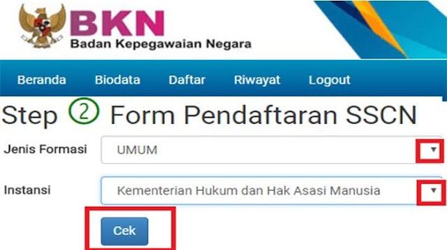 Jumlah Pelamar Yang Telah Terdaftar/Register di Situs SSCN BKN