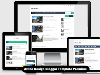 Arlina Design Blogger Template Premium