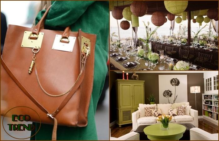 brown and green eco trend