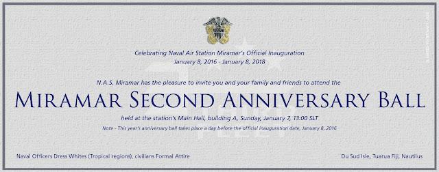 N A S Miramar Nfws Sl Miramar 2nd Anniversary Ball Invitation