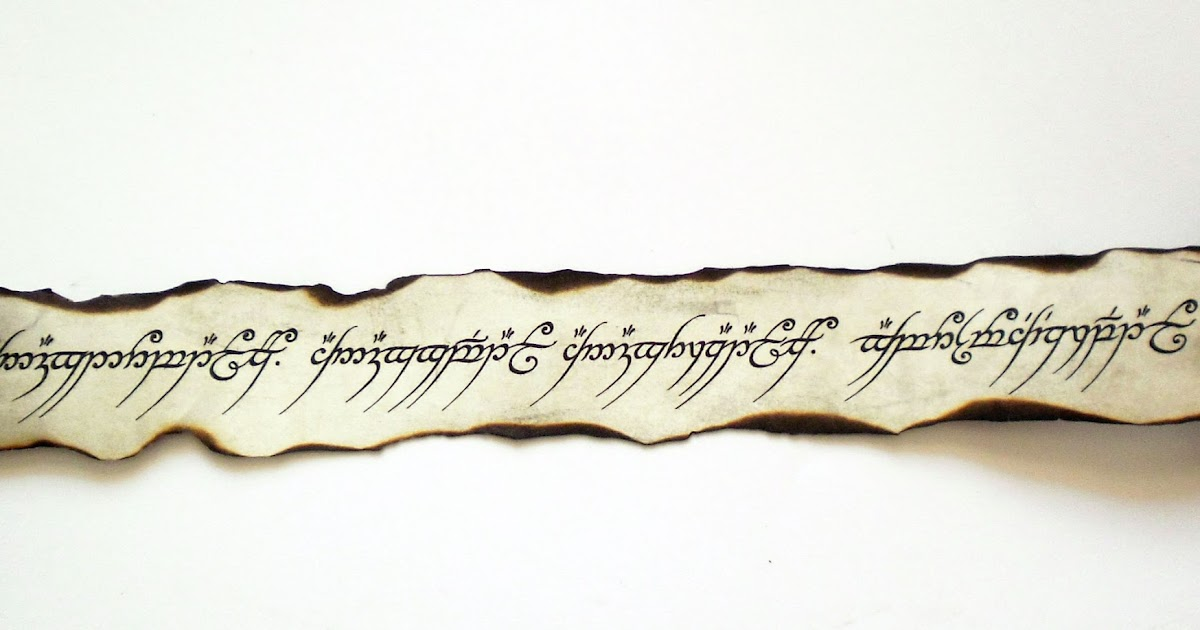 Land Of Scrolls Inscription On The One Ring The Lord Of