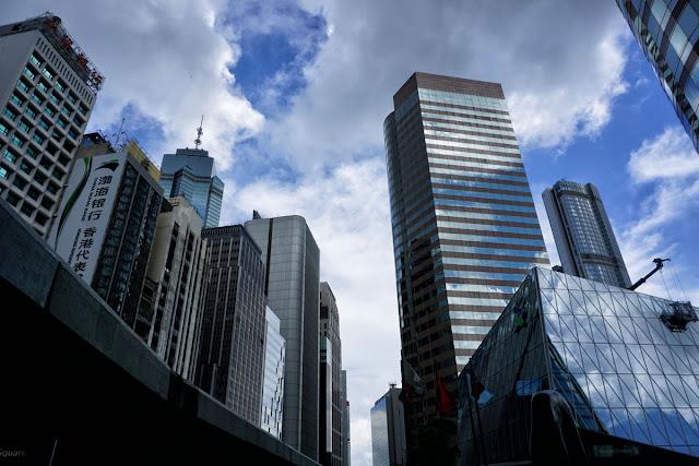 香港・中環(セントラル)の高層ビル群