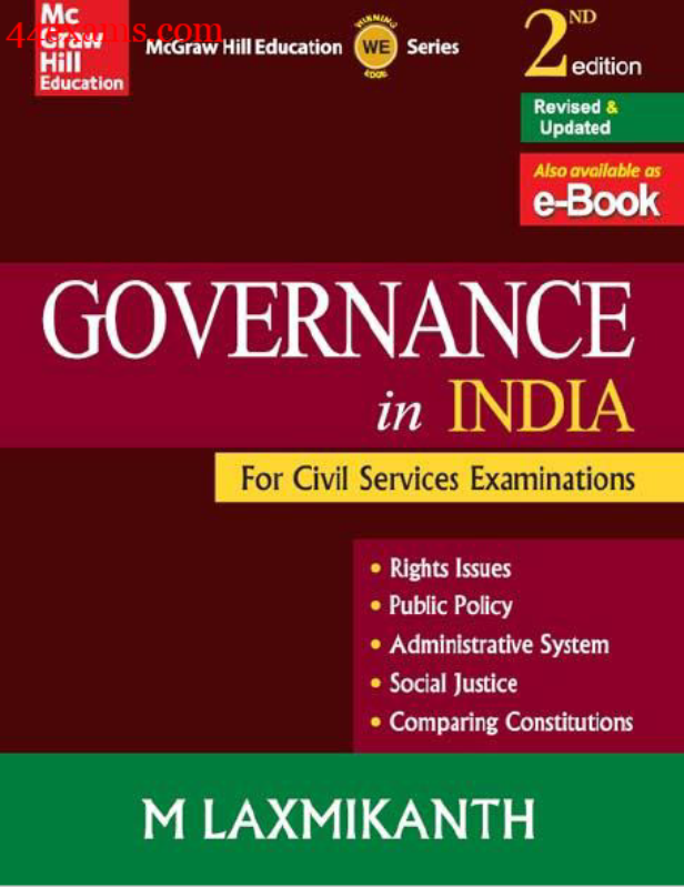 Governance in India By M. Laxmikanth : For UPSC Exam PDF Book