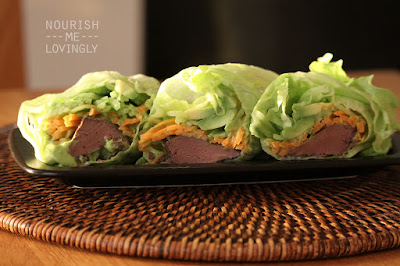 Lettuce wraps with liver (AIP)