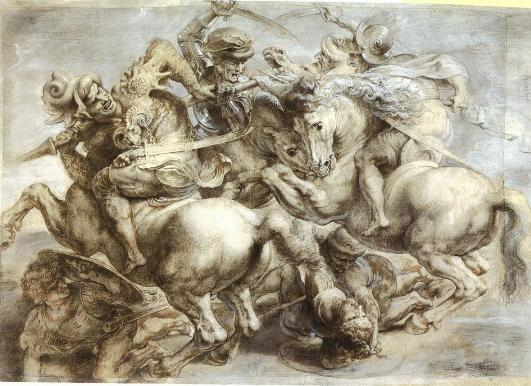 The Battle of Anghiari, copied by Peter Paul Rubens