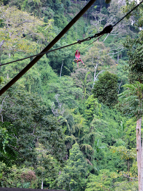 Zipline in Seven Falls, Lake Sebu