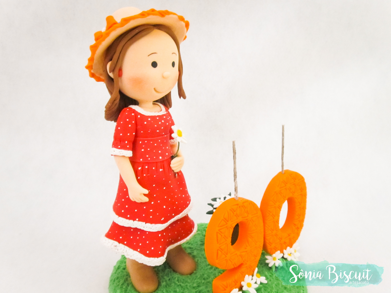Topo de Bolo, Biscuit, Sonia Biscuit, 90 Anos, Vovó