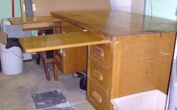 oak desk - Oak Desk Solid Oak Desk Antique Oak Desk Oak Computer Desk