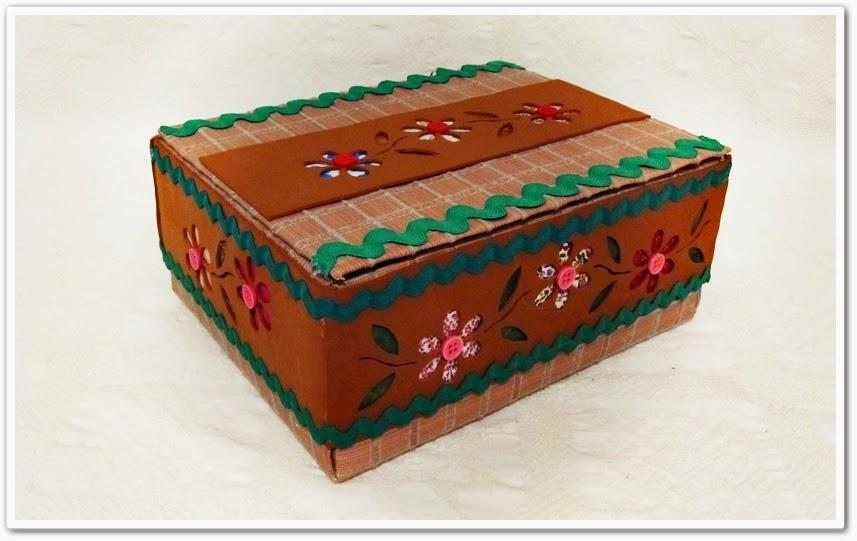 caja carton reciclada goma eva