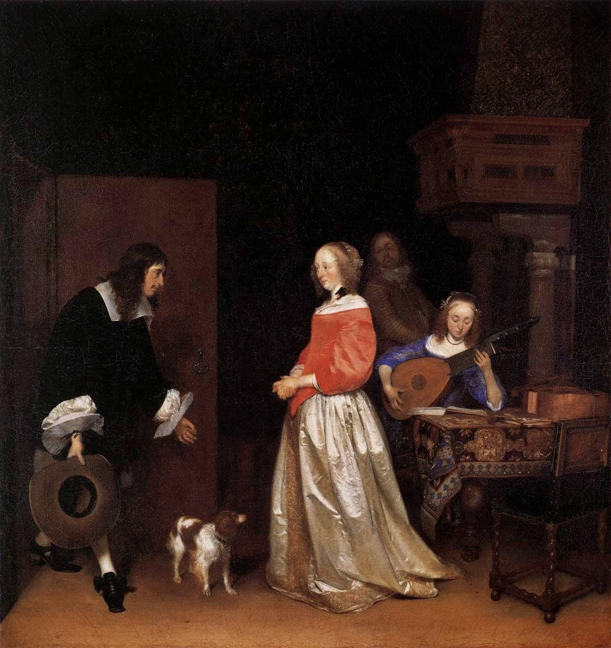 Visita dos Pretendentes - Gerard Terborch ~ Pintor Barroco ~ Holandês
