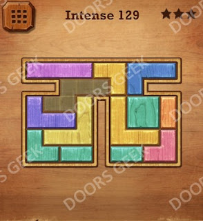 Cheats, Solutions, Walkthrough for Wood Block Puzzle Intense Level 129