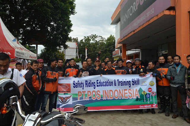 Pos Indonesia Dukung Astra Motor Sumsel Sebarkan Safety Riding