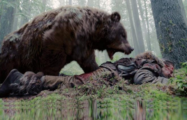 التهمه الدب أثناء جمعه للفطر