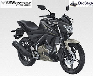 All New Vixion Warna Black Matte