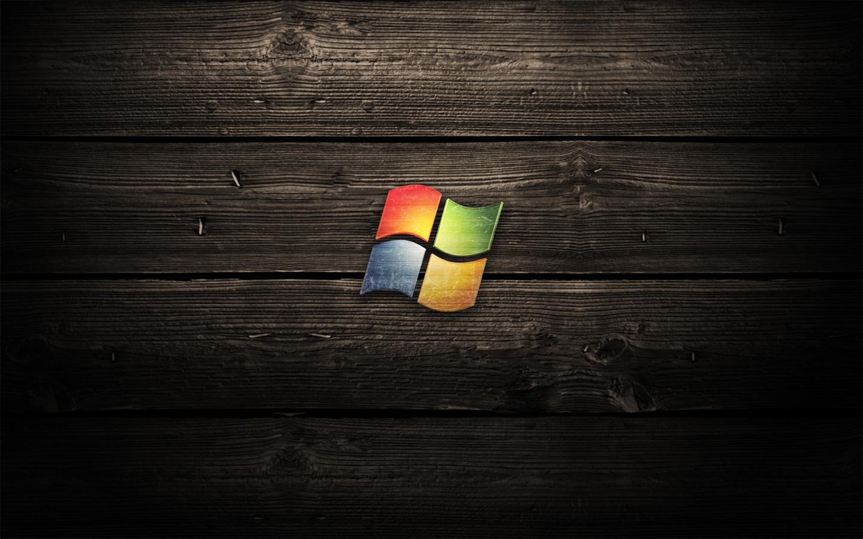 Microsoft Windows Logo Wood