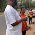 [VIDEO] Dino Melaye stops by to educate women hawking during lockdown, blesses them with cash